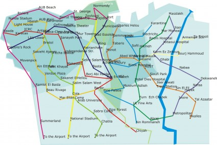 Old Beirut Metro Map Blog Baladi