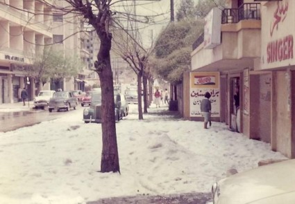 Snow in Beirut 2
