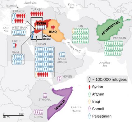 Syrian refugee crisis map in lebanon the world blog baladi map sciox Gallery