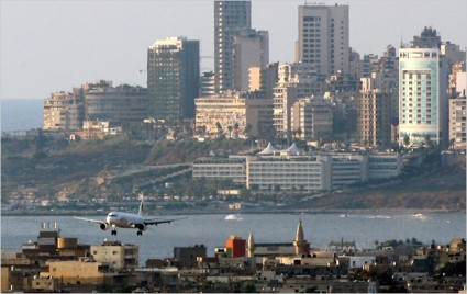 plane-lands-at-beirut-international-airport
