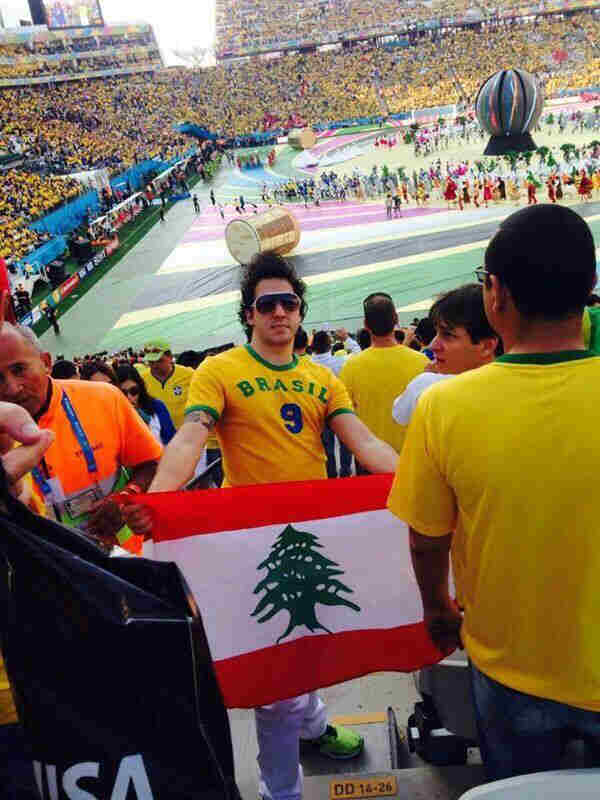 Lebanese Flag Spotted At The Brazil World Cup Opening