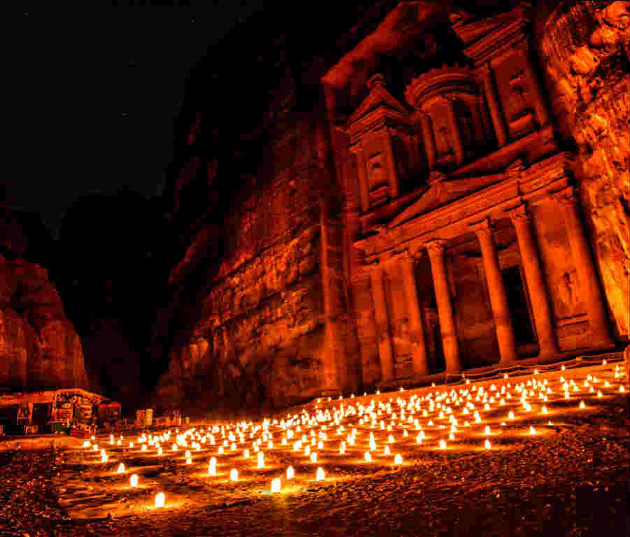 Petra-Jordan-At-Night