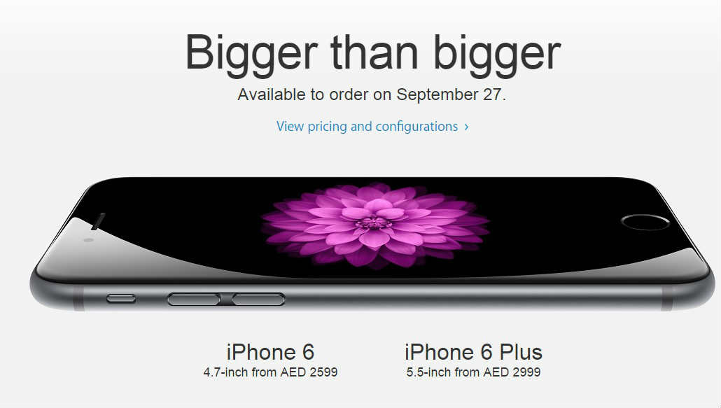 iPhone6 and iPhone6 Plus Will Be Available To Order In The UAE On