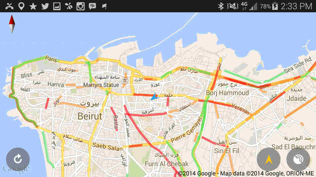 Tari2ak The Best App To Learn About Real Time Traffic Conditions In
