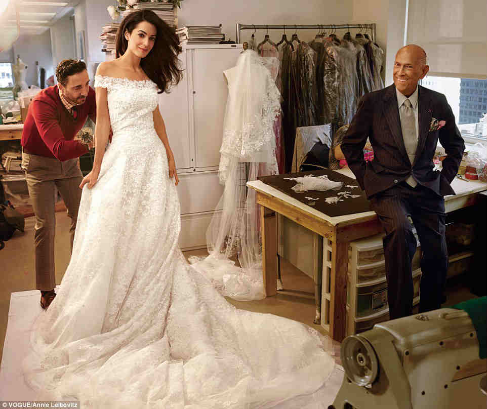 amal and oscar de la renta