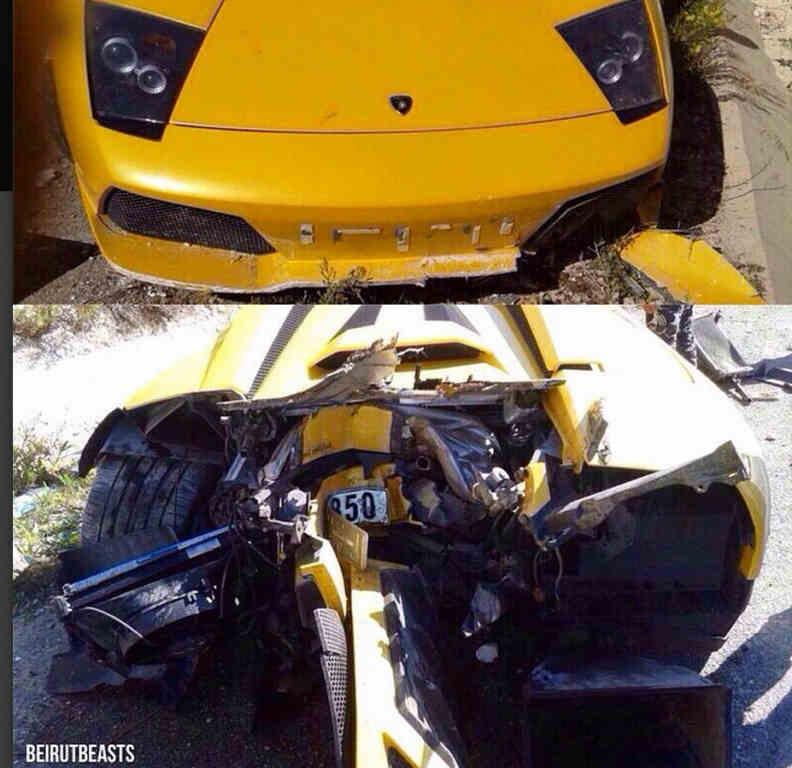 Lamborghini Murcielago Crash In South Lebanon Blog Baladi