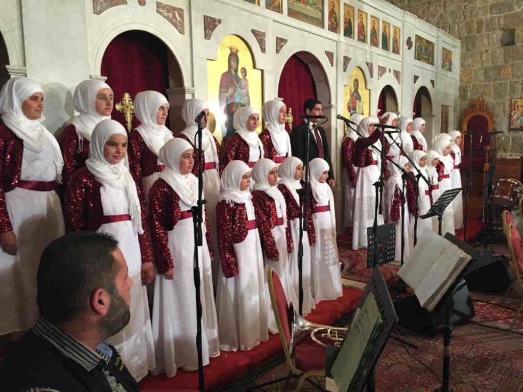 bringing muslims to sing inside a church or vice versa is probably the cheesiest thing to do but it works every time in lebanon i have nothing against it