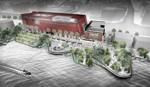 Aishti Foundation rendering - Aerial Landscape