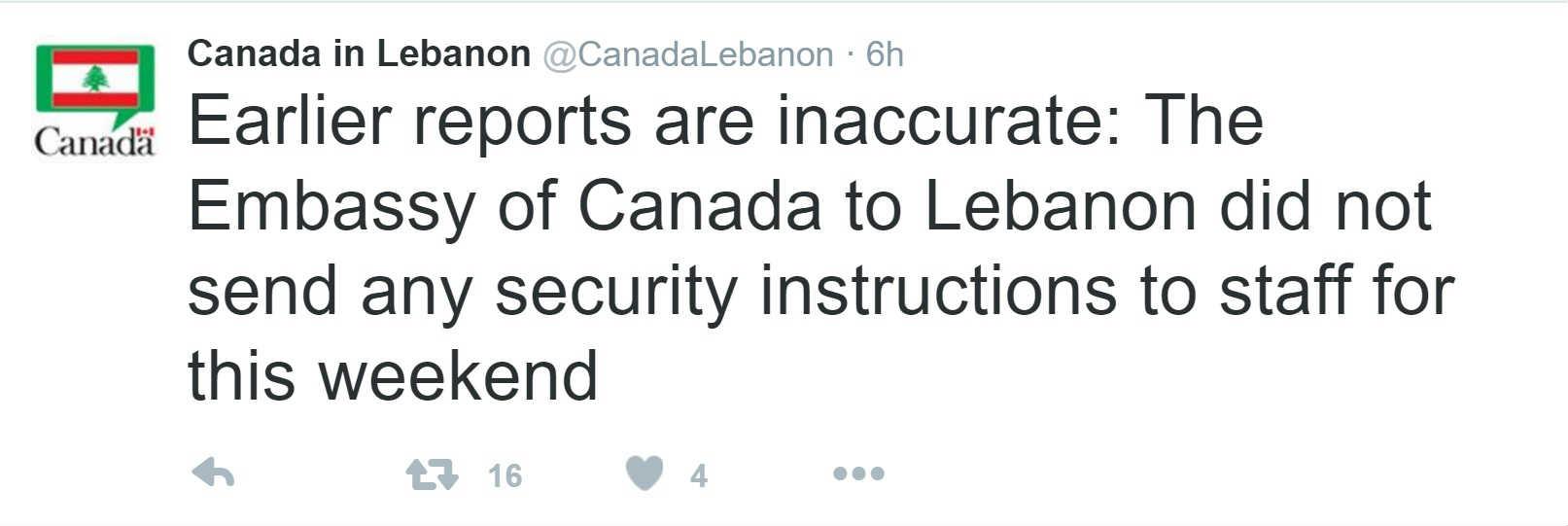 Canada warning