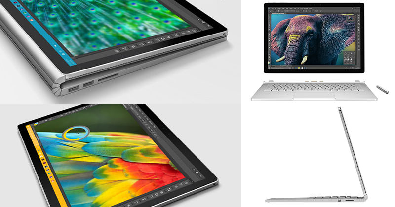 Here are some of the key features in Surface Book: 13.5″ Detachable screen, NVIDIA graphics processor, 6th generation Intel Core i7, , Touchscreen with 10 point multitouch, Pen, 1TB Storage, 16GB Memory