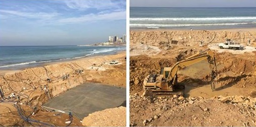 Pictures Showing Construction Works at Ramlet el Baida