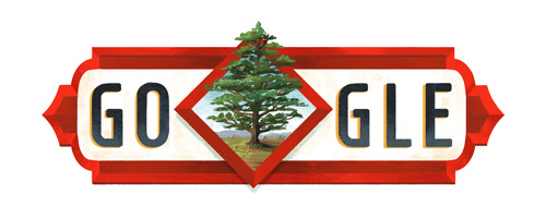 Google Celebrating Our Independence with a doodle