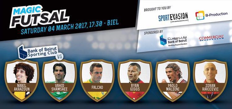 #MagicFutsal: Ryan Giggs, Paolo Maldini & Falcao Coming to #Beirut on March 4