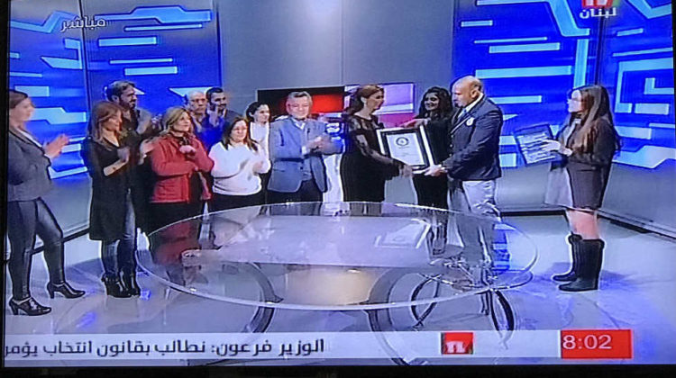 TeleLiban Host Dalia Freyfer Breaks Guinness Record For Longest Live TV Show
