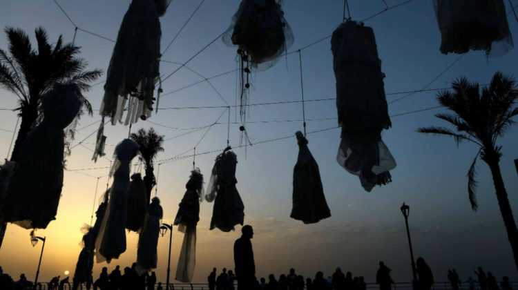 31 Wedding Dresses Hung in Beirut to Protest Article 522