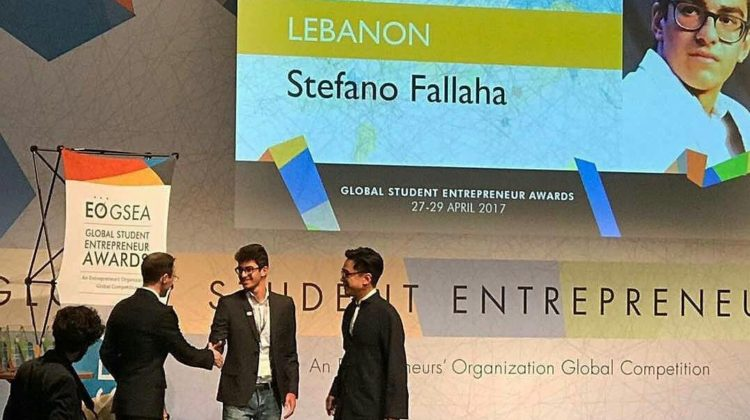 Stefano Fallaha to Represent Lebanon at the 2017 Global Student Entrepreneur Awards