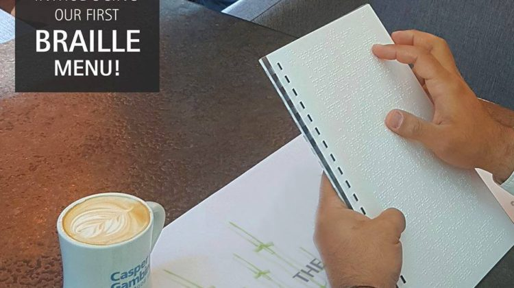 Casper & Gambini's Introducing a Braille Menu in #Lebanon