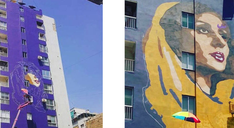 Huge Fairouz Mural by ASHEKMAN