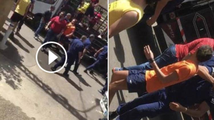 Brawl Between Sagesse Students & Hazmieh Municipal Police