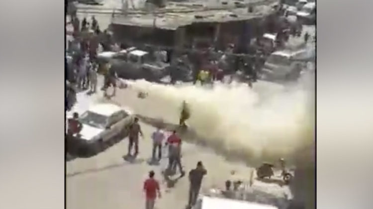 Man Attacking Passersby & Policemen with Knives in Hay el Selloum