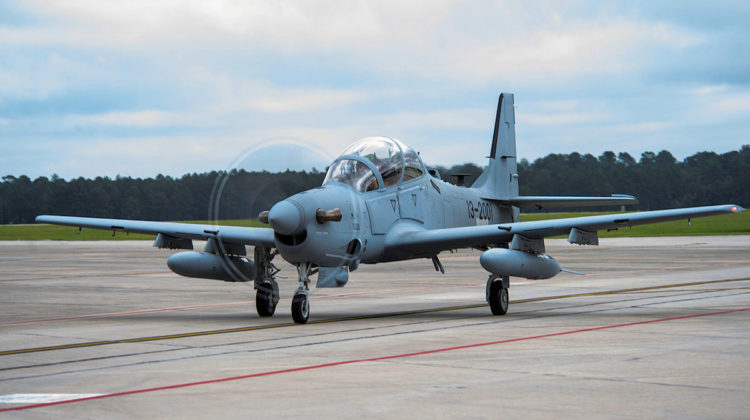 First Video of the Super Tucano Flying over Hamat