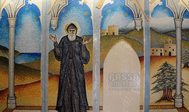Shrine Dedicated to Saint Charbel inside St. Patrick's Cathedral in New York