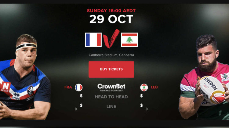 Lebanon Faces France in Rugby League World Cup Debut