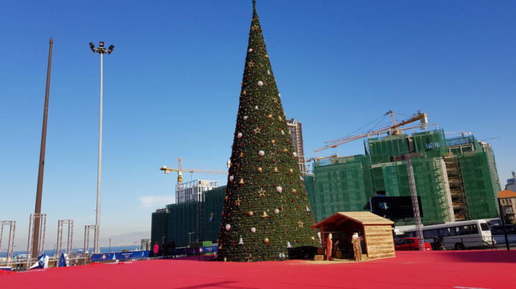 Yet Another Dull Christmas Tree in #Beirut