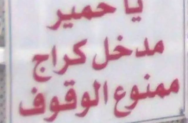 Funniest 10 No Parking Signs in Lebanon