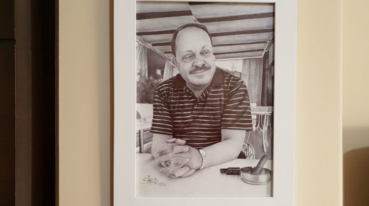 My Dad's Portrait By The Super Talented Samia Al Homsi Dagher