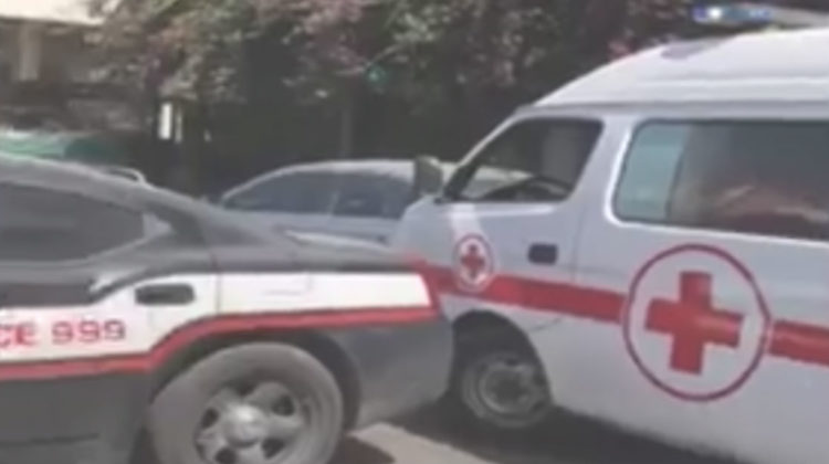 Blocking an Ambulance To Make Way for an Armored Convoy