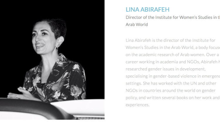 LAU's Dr. Lina Abirafeh Among The World's 100 Most Influential People in Gender Policy