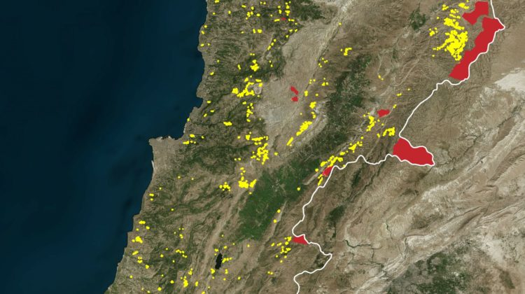 A Map of Every Quarry in Lebanon