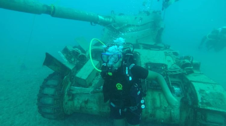 Ten Old Army Tanks Sunk in Sidon's Sea To Create new Habitat for Marine Life
