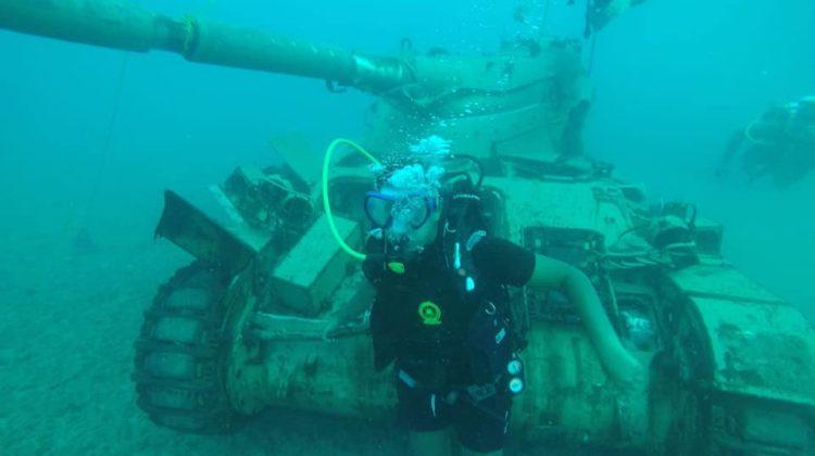Ten Old Army Tanks Sunk in Sidon's Sea To Create new Habitat for Marine Life