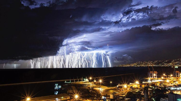 Thunders From the Recent #Norma Storm Captured by Charbel Bouez