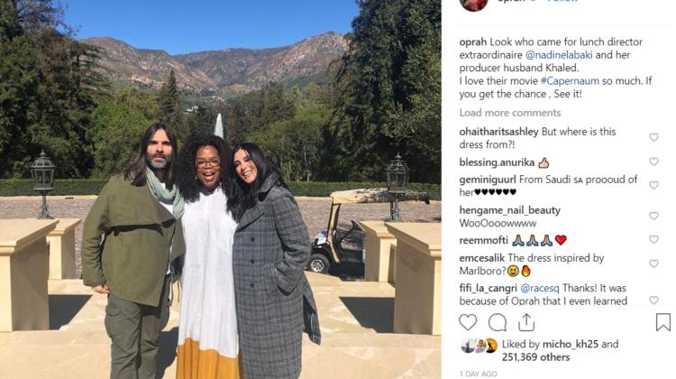 Capernaum Falls Short to Roma at the BAFTA, Nadine Labaki Meets Oprah
