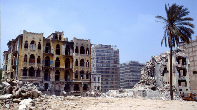 Footage from War-Ravaged Down Town Beirut