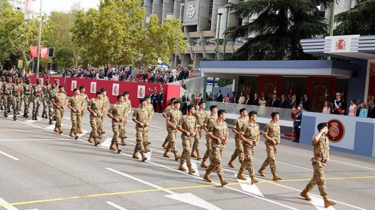 Lebanese Army Commando Regiment Takes Part in Spain's National Day Parade