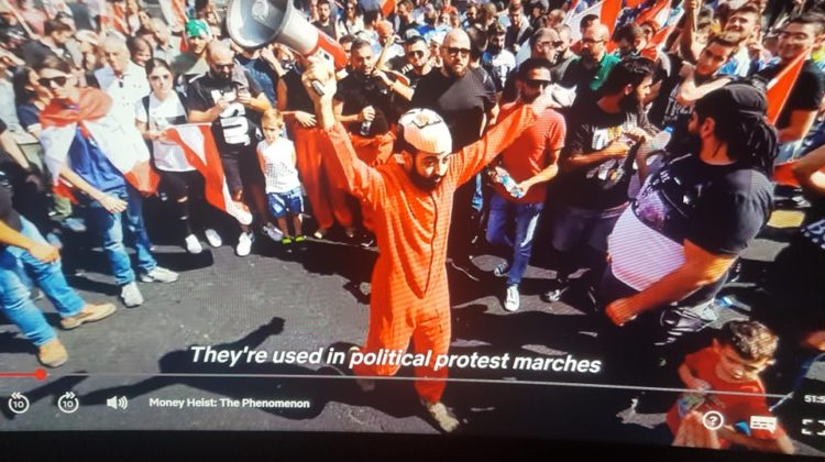 Lebanon Protests Featured in Money Heist Netflix Documentary
