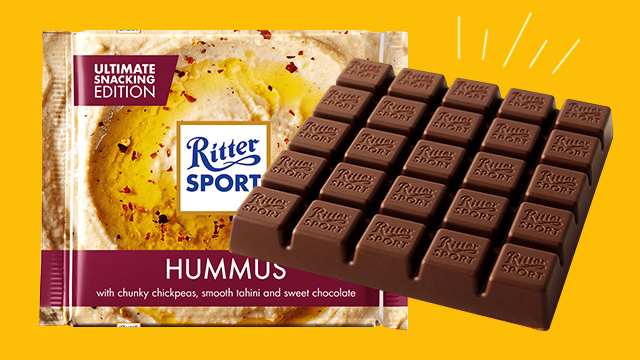 German chocolate Maker Ritter Sport Reveals New Hummus Flavor