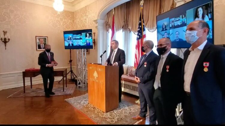 Lebanese Embassy in The US Decorates 8 Moderna Executives & Scientists of Lebanese Descent
