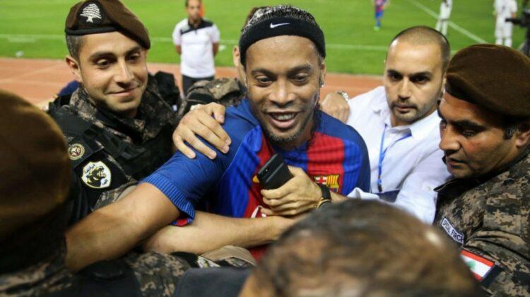 Brazilian Star Ronaldinho in Beirut