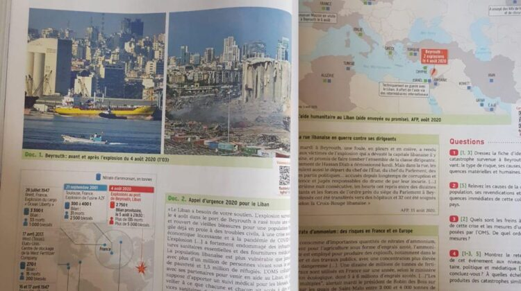 Beirut Port Explosion In This Year's French Baccalaureate Textbook